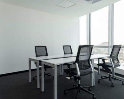 Travaillez comme vous l'entendez dans un bureau priv pour quatre.