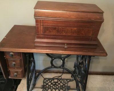 Antique Household treadle sewing machine