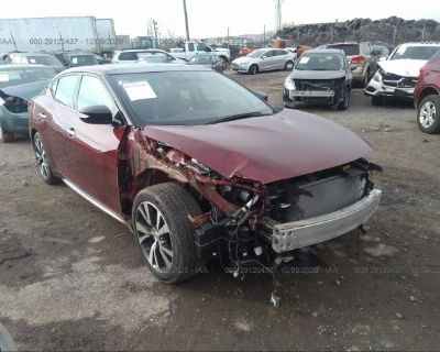 Salvage Burgundy 2017 Nissan Maxima
