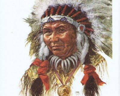 Sioux Indian Chief Litho - Artist Ron Raymer - 1979 - Signed - Unframed