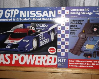 Vintage rc cox .049 gtp nissan 1/12 scale rc car nitro ultra rare