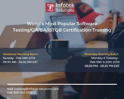 Job Oriented Software Testing/QA/BA/ISTQB Certification Training