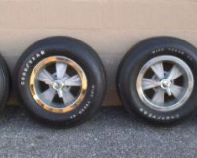 Gto Chevelle 442 Nova Camaro Hurst Wheels Spinners Rings Goodyear Tires Gm 4.75
