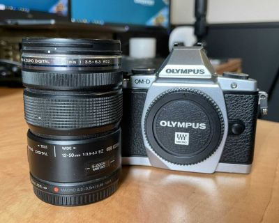 Olympus E-M5 Mirrorless camera with 12-50mm lens