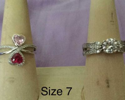 .925 Sterling silver Size 7 rings
