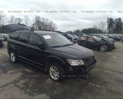 Salvage Black 2017 Dodge Journey