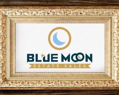 Blue Moon Estate Sale in Conroe - Leather sofa, recliners, Wood bedroom set, riding lawnmower, kayak