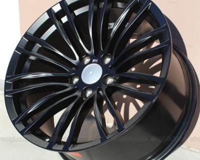 """Set (4) 19"""" Black M5 Style Wheels For Bmw F30 328 328i 335 335i Sedan Coupe Rims"""