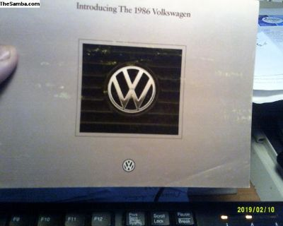 1986 Volkswagen Vehicle Line Up Pamphlet GTI
