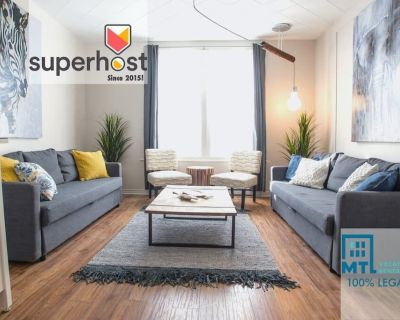 MTL Zoo: Plateau central, 2+1 bedrooms, 2 bathrooms, A/C x 2, private balcony - Plateau Mont Royal