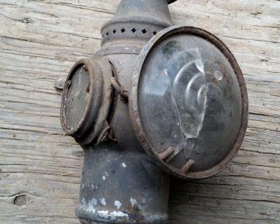 "RARE Vintage 8 1/2"" Adlake Railroad Coach Signal Lamp Light RAT ROD HOT ROD"