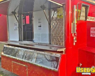 4' x 8' Compact Food Concession Trailer w/ Pro Fire Suppression System