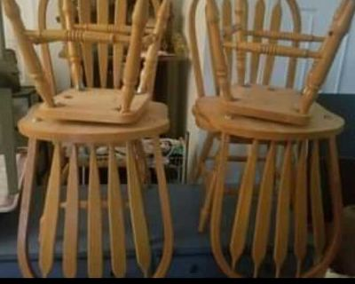 "Rotoing oak wood chairs "" tall"