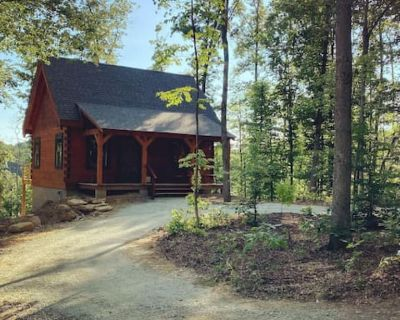 Persimmon - Hand hewn private log cabin with views - Hocking County