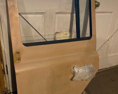 Pair of Second Row Galvanized Doors