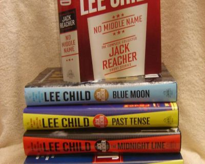LEE CHILD Jack Reacher novels. most recent titles. hardcovers w/ dust jackets. NEW/AS NEW. some unread. $10 each.