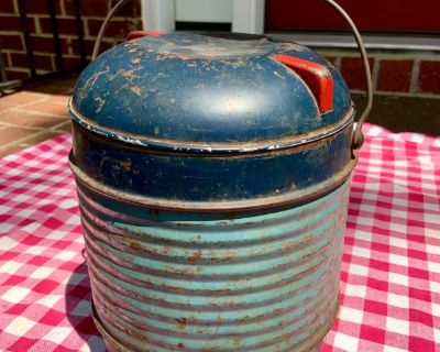 Rare Antique Stoneware Lined Crock/Thermos Travel Pot