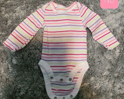 Colorful Striped Long Sleeve Onesie - New
