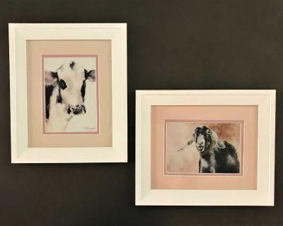 Cute Farm Animal Framed Prints. Patty Jacobs.