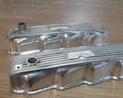 """Chrysler Dodge Plymouth"""" Poly Head"""" Aluminum Vintage Valve Covers"""