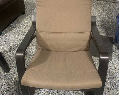 IKEA rocking chair/side table/ coffee table / faux leather storage bench