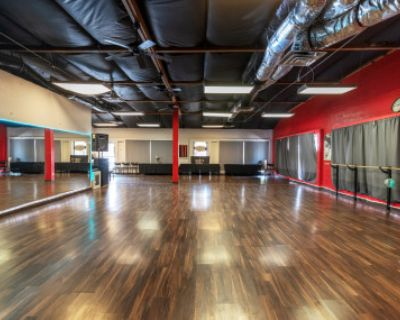 Beautiful Open Dance Hall with Floor to Ceiling Mirrors, Scottsdale, AZ