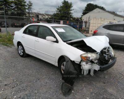 Salvage White 2008 Toyota Corolla