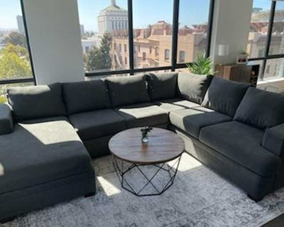 Charcoal Sectional Couch w/ Chaise