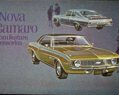 1969 Chevrolet Nova Camaro Custom Features Accessories Brochure Dealer Original