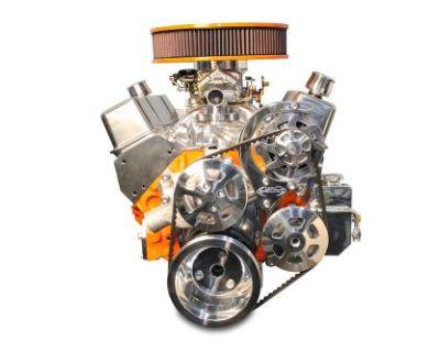 Sbc V Drive Pulley Kit, Billet Polished Finish Power Steering Eddie Motorsports
