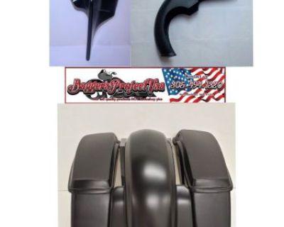 """2014-16 Harley Davidson 6"""" Stretched Saddlebags & Rear Fender Kit Flh"""