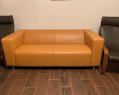 Leather couch (love seat)