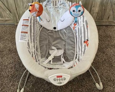 Fisher-Price See & Soothe Fox Deluxe Bouncer **new condition**