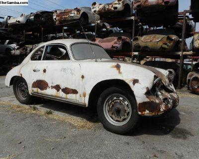 1958 Porsche 356 A Coupe Project Car for Restorati