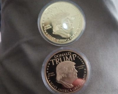 Gold Trump coin