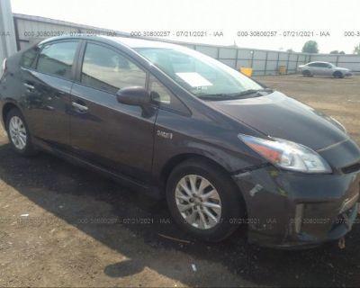 Salvage Gray 2013 Toyota Prius Plug-in