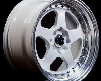 Jdm Jnc010 Wheels 17x8 4x100/4x114.3 +30 Offset White Set Of 4 Rims