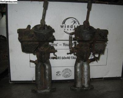Dual O.G. Kadron carbs with aluminum manifolds