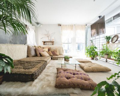 Modern Bohemian Loft with Feasting table and Caravana lounge, Los Angeles, CA