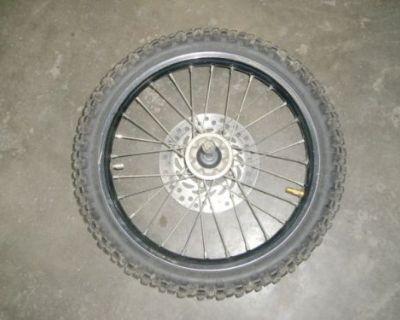 07 Honda Crf 150r Front Tire Wheel Rim Excel 70/100-17 Dunlop Geomax 11959