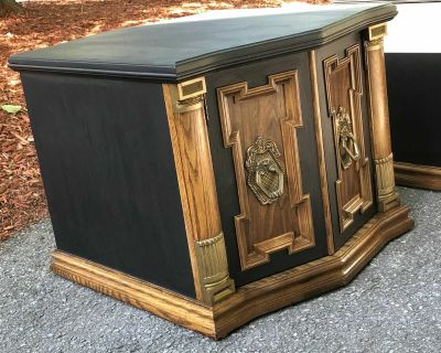 Two side tables refurbished.