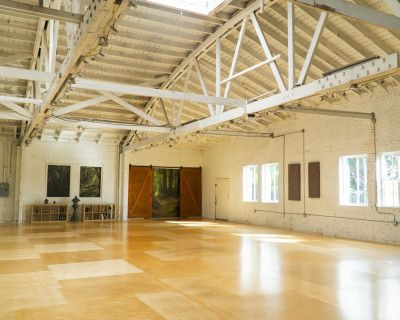 Warehouse Dance Studio with Brick Walls, Wood Floors and Front Stage, Los Angeles, CA