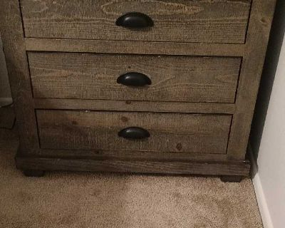 Real wood nightstand in excellent condition