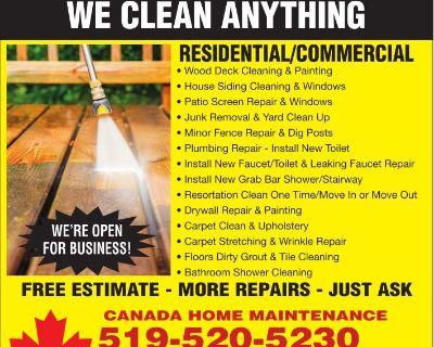 MINOR REPAIR PLUS WE CLEAN ANY...