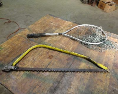 One Quick Cut Wood Bush Saw and One Hand Fishing Net