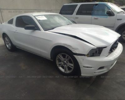 Salvage White 2014 Ford Mustang