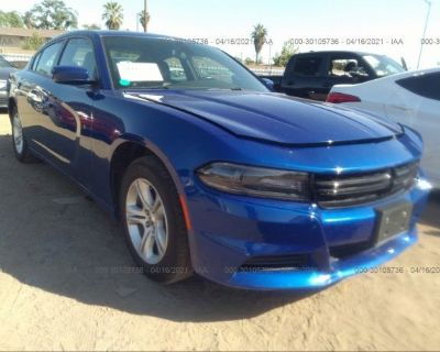 Salvage Blue 2019 Dodge Charger