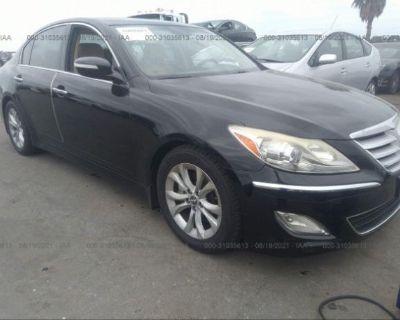 Salvage Black 2012 Hyundai Genesis