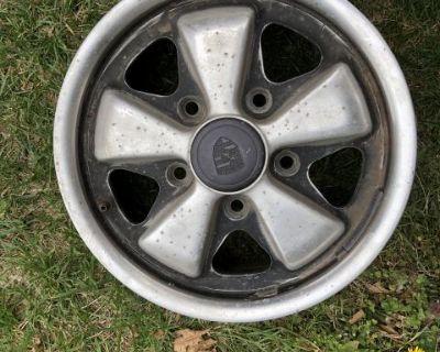 three 8/76 fuchs 14 x 5.5 1/2 set rim wheel