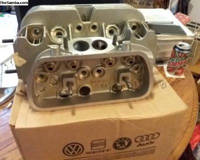 NOS Factory VW Stock Dual Port Bare Cylinder Head